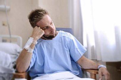 пациент с бинтом
