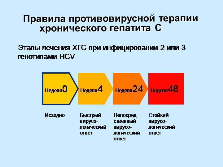 правила противовирусной терапии гепатита