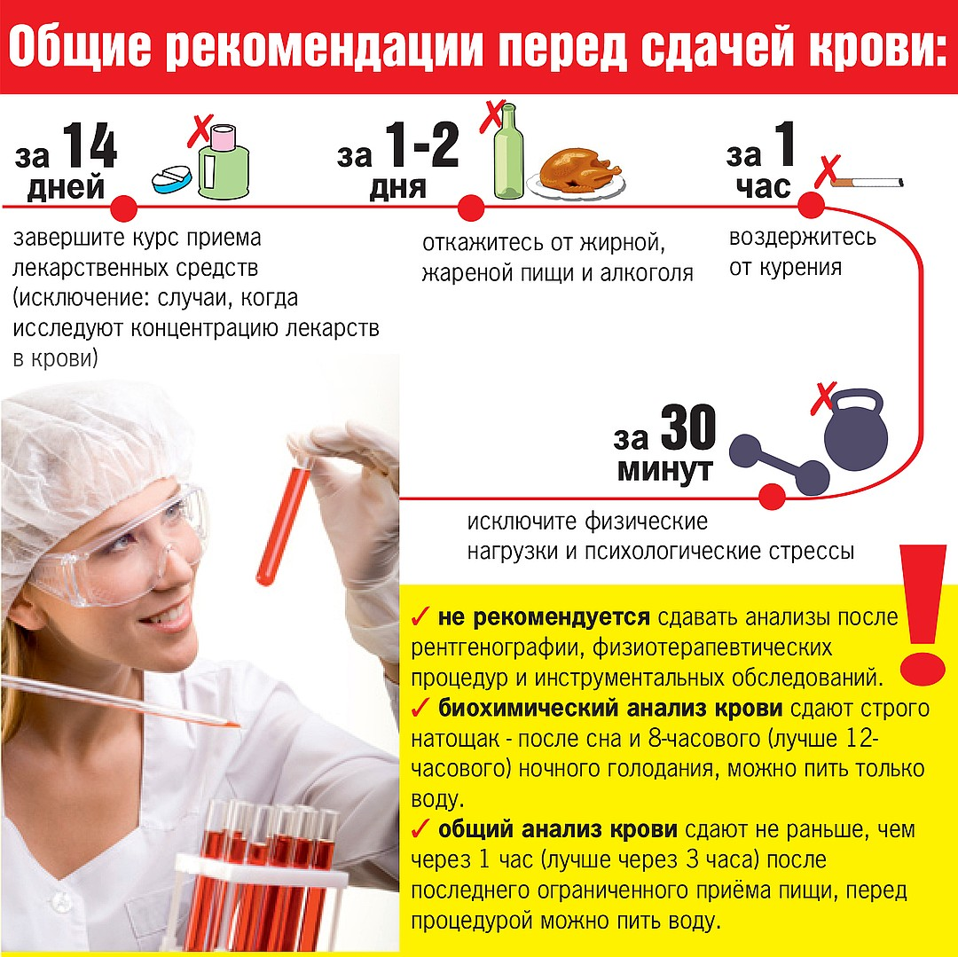 рекомендации перед сдачей крови