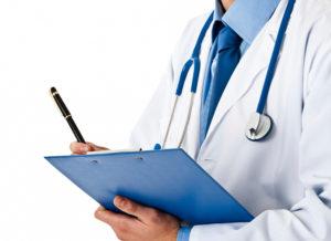 врач с блокнотом