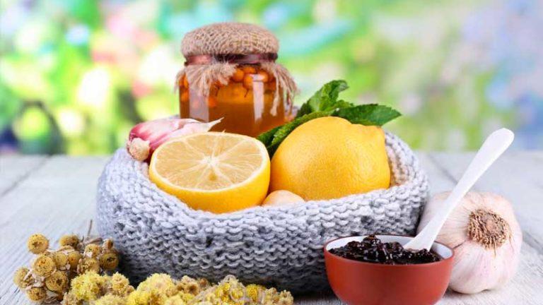 лимон и сухие травы